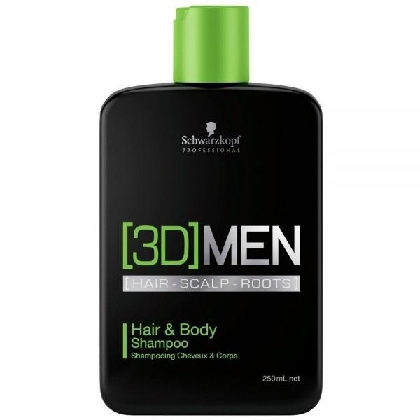 Schwarzkopf Professional 3D Men Hair&Body juuste ja keha šampoon