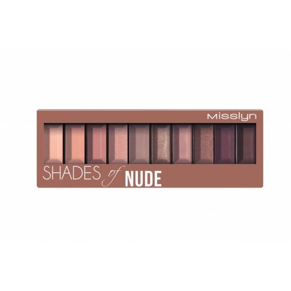 "Misslyn Must-Have lauvärvipalett 4""shades of nude"""