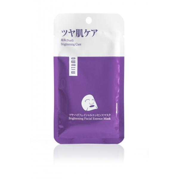 Mitomo Brightening Facial Essence näomask premium pärliga