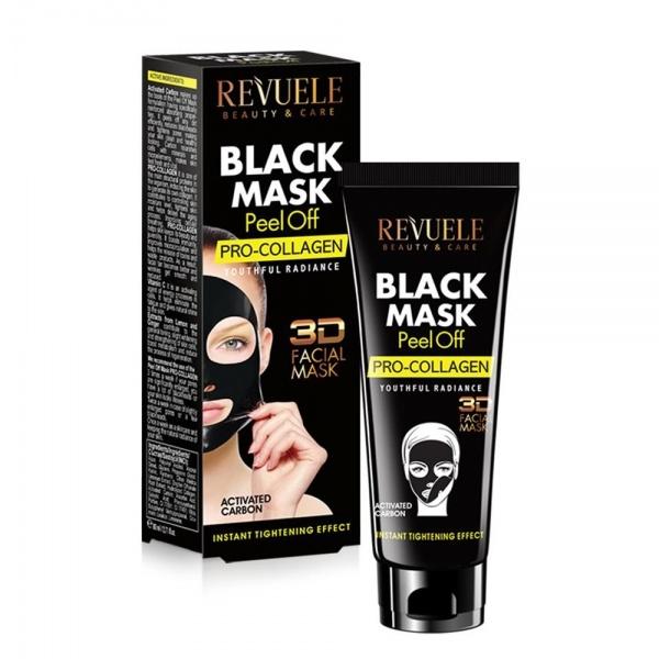 Revuele Black Mask With Procollagen kooriv must mask aktiivsöe ja kollageeniga