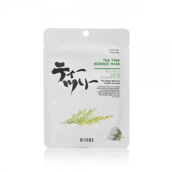 Mitomo Tea Tree Essence Mask teepuuessentsi näomask
