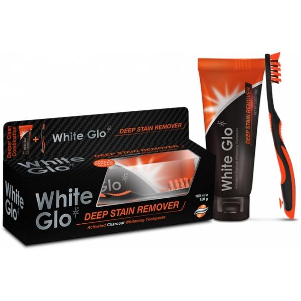 White Glo Charcoal Deep Stain Remover-aktiivsöega hambapasta