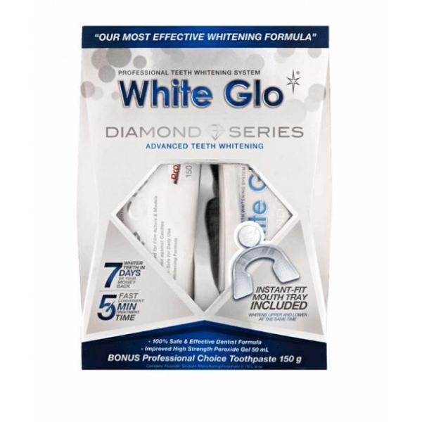 White Glo Diamond White Whitening valgendav komplekt hammastele