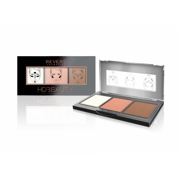 Revers HD Beauty Pro kontuurimispalett 03