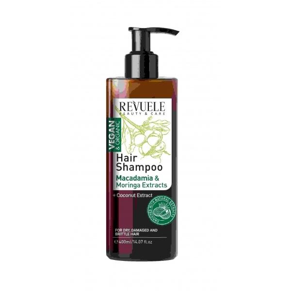 Revuele Vegan Organic makadaamiaõliga šampoon kuivadele juustele