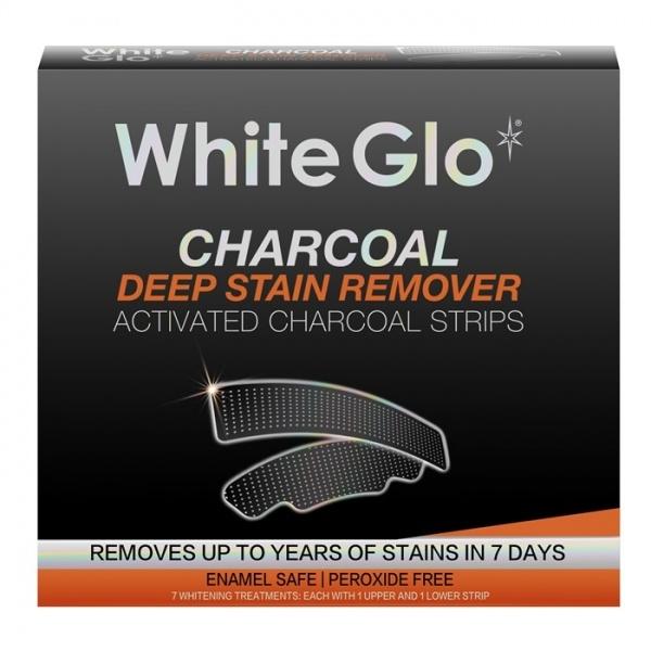 White Glo Charcoal valgendavad ribad aktiivsöega