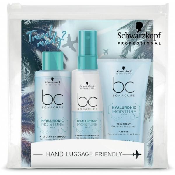 Schwarzkopf Professional Bonacure Hyaluronic Moisture Kick Travel Kit reisikomplekt