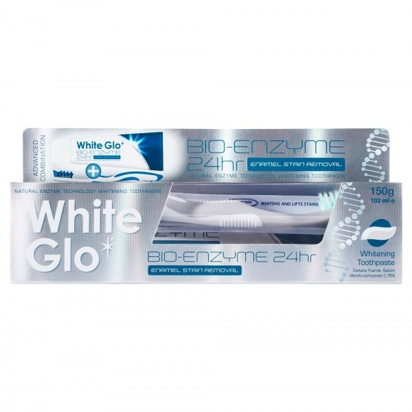 White Glo Valgendav hambapasta naturaalsete ensüümidega