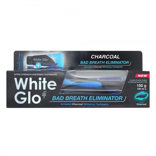 White Glo halba hingeõhku eemaldav hambapasta aktiivsöega