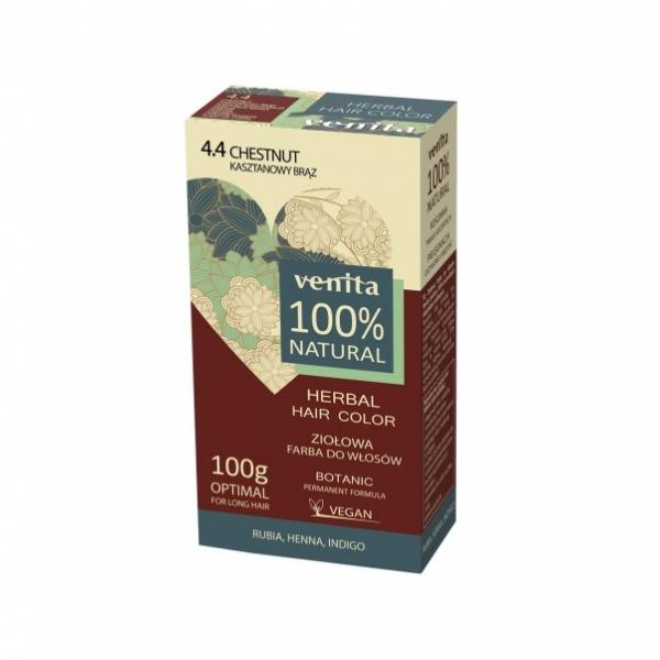 Venita 100% Natural Herbal henna pulber 4.4 chestnut