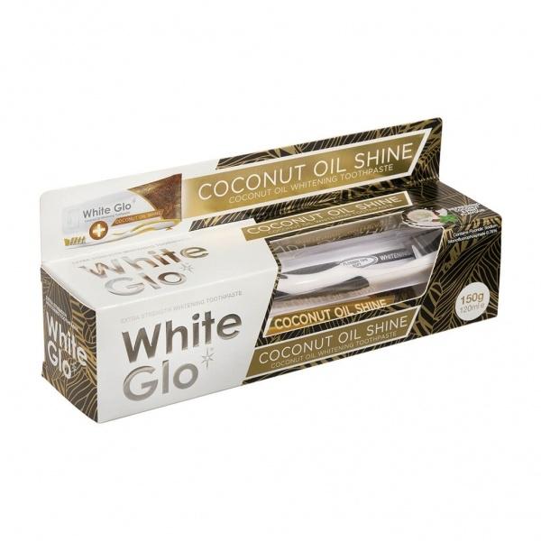 White Glo Coconut Oil Shine valgendav hambapasta