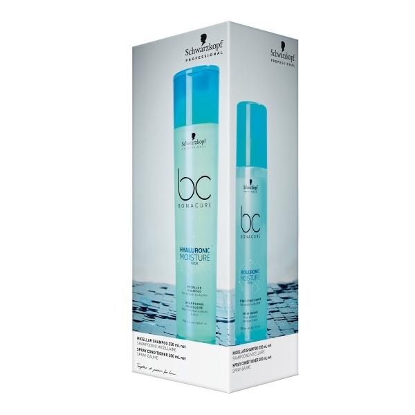 Schwarzkopf Professional Bonacure Moisture Kick komplekt šampoon+spreipalsam