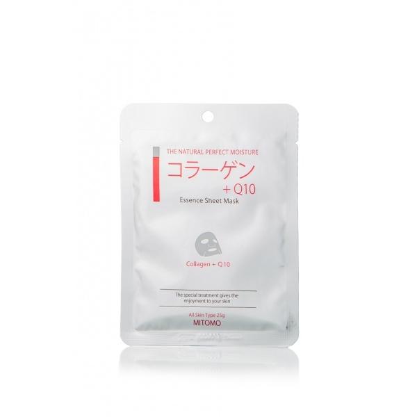 Mitomo Collagen+Q10 Essence Mask kollageeniga näomask