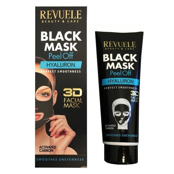 Revuele Black Mask With Hyaluron must mask hüaluroonhappega