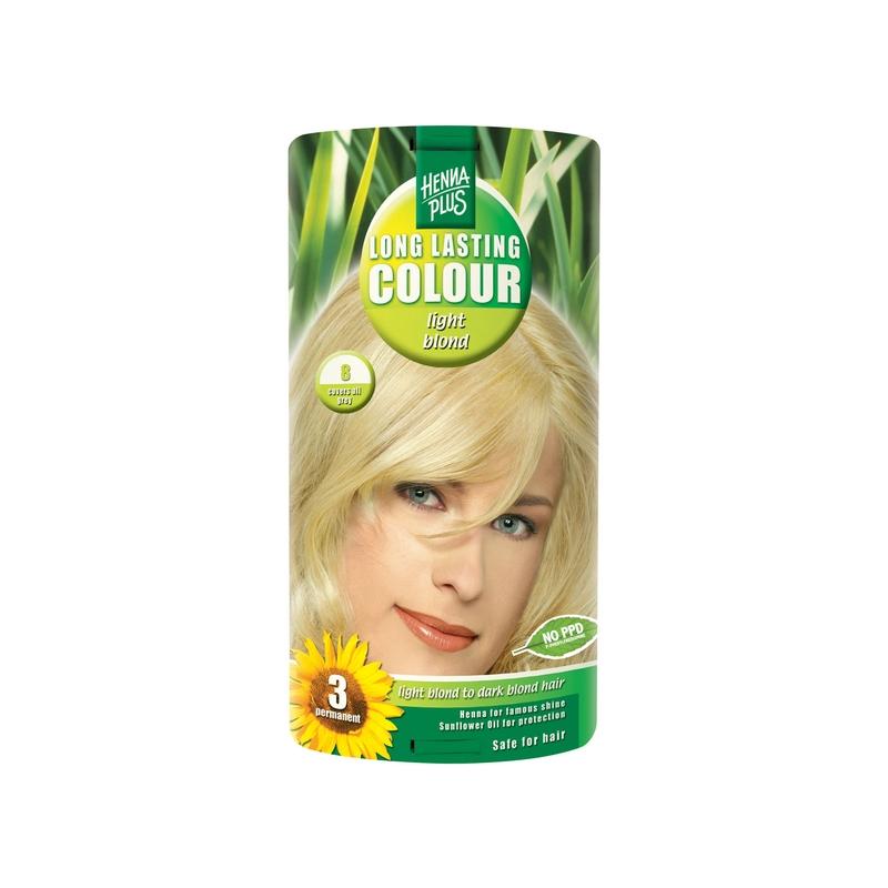 Henna Plus Long Lasting Colour juuksevärv 8 light blond