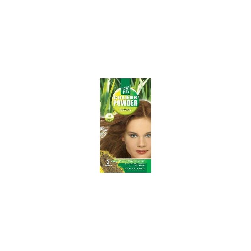 Henna Plus püsivärvipulber 51 pähklipruun