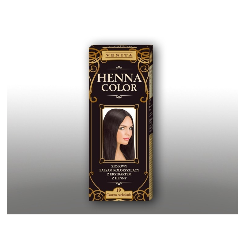 "Venita Henna Color tooniv palsam hennaga 19 ""black chocolate"""