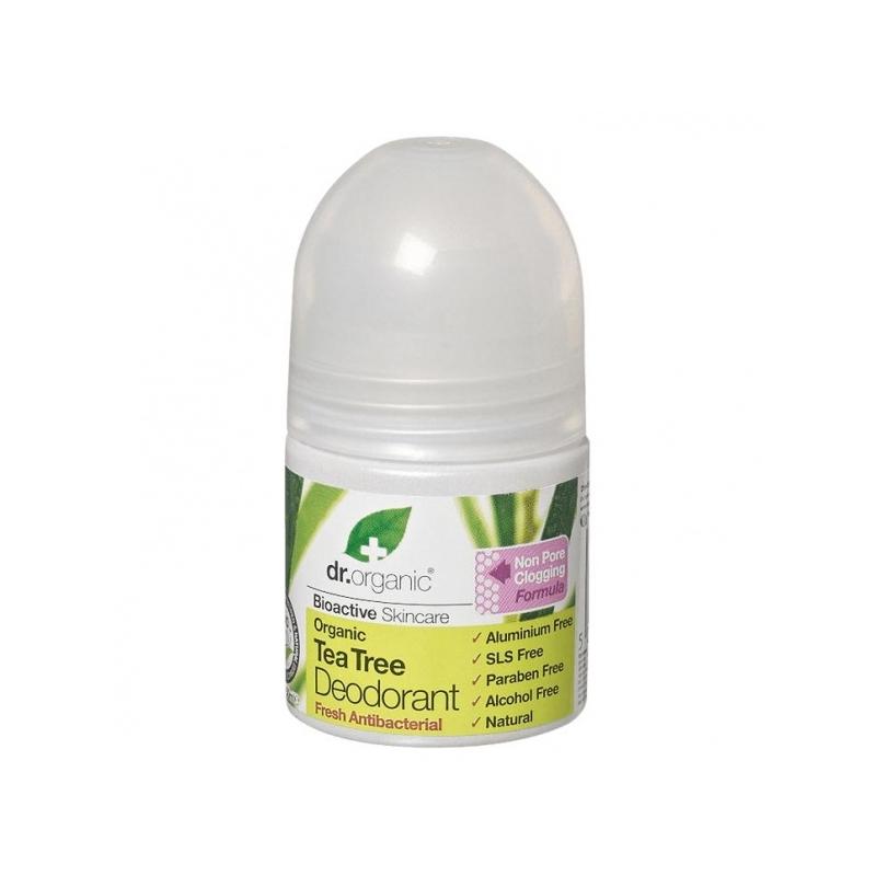 Dr. Organic rulldeodorant teepuuõliga