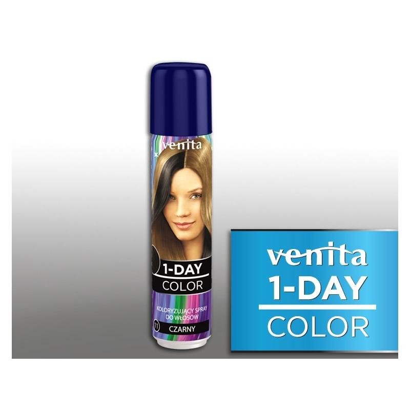 Venita värviv juuksesprei 11 must