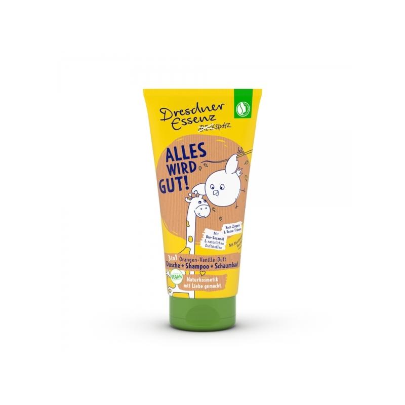 Dresdner Essenz laste dušigeel-šampoon apelsin-vanilje
