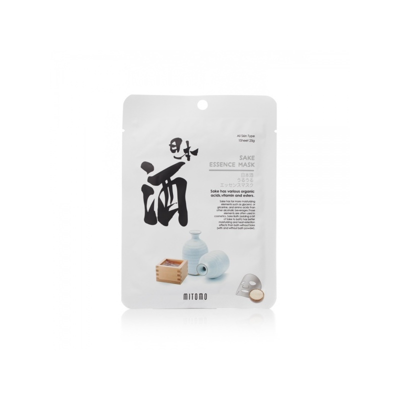 Mitomo Sake Essence Mask sakeessentsi näomask