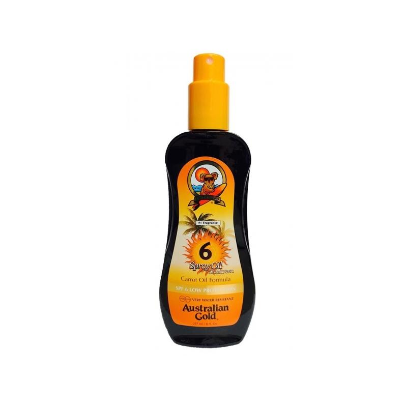 Australian Gold SPF 6 Spray Oil päevitusõli porgandiga 237ml