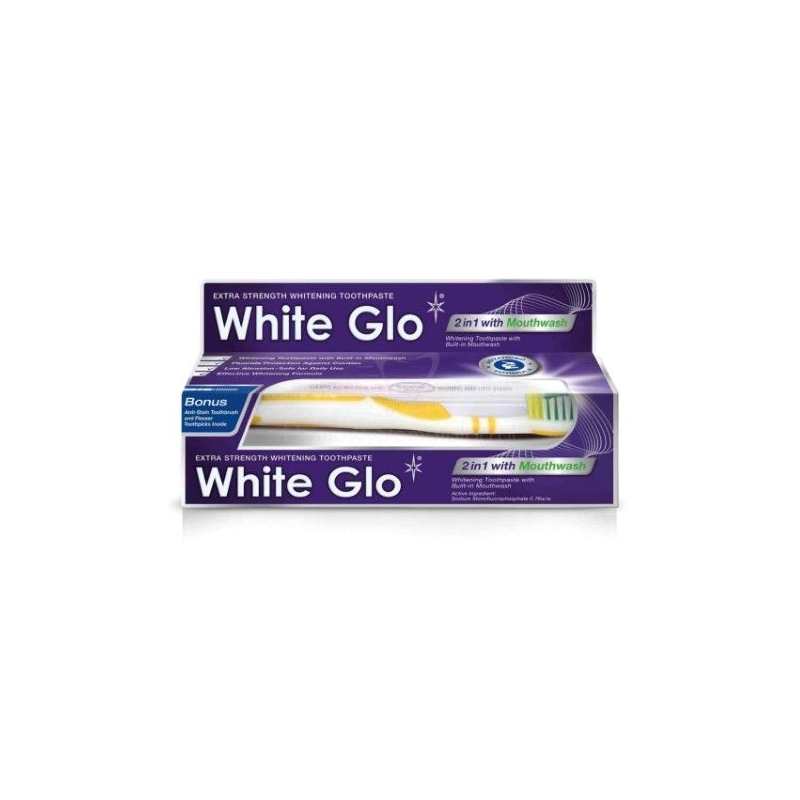 White Glo 2in1 valgendav hambapasta suuveega