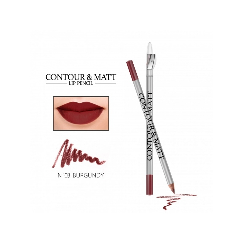 "Revers Contour&Matt huulepliiats 03 ""burgundy"""