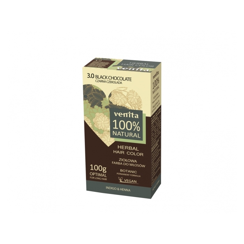 "Venita 100% Natural Herbal henna pulber 3.0 ""black chocolate"""