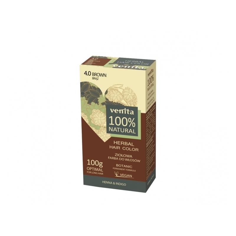 "Venita 100% Natural Herbal henna pulber 4.0 ""brown"""