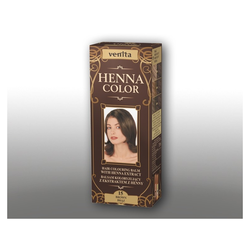 "Venita Henna Color tooniv palsam hennaga 15 ""brown"""
