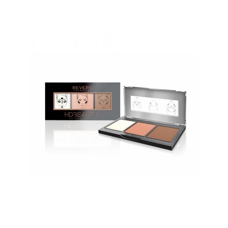 Revers HD Beauty Pro kontuurimispalett 01