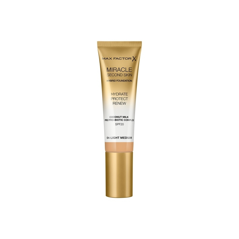 "Max Factor Miracle Second Skin jumestuskreem 04 ""light medium"""