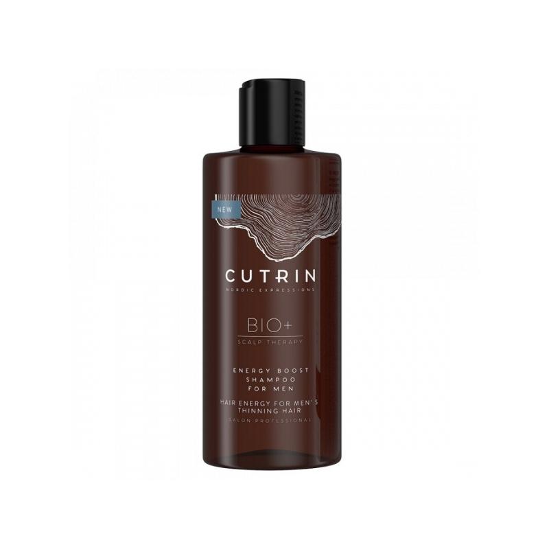 Cutrin Bio+ Energy Boost juuste väljalangemise vastane šampoon meestele