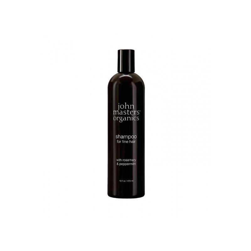 John Masters Organics Rosmariini ja piparmündi šampoon õhukestele juustele 473ml