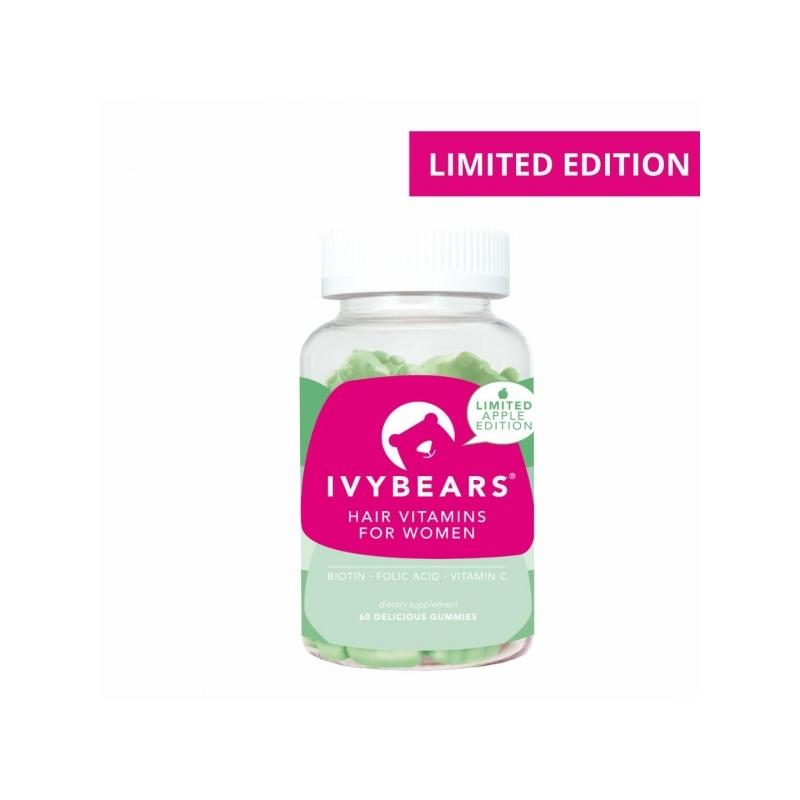 IvyBears juuksekasvu kiirendavad ja väljalangemist vähendavad kummikarud 60tk