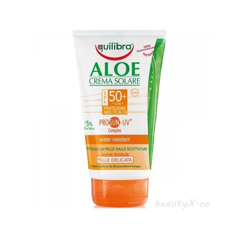 Equilibra Aloe päevituskreem vananemisvastane SPF50+