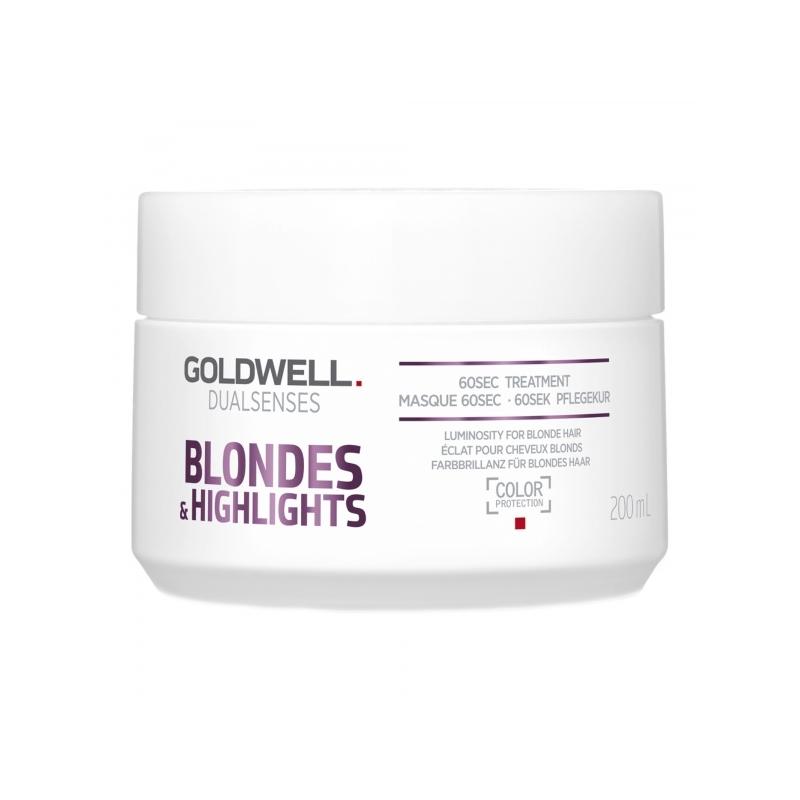 Goldwell Dualsenses Blondes&Higlights 60 Sek intensiivmask blondidele ja triibutatud juustele