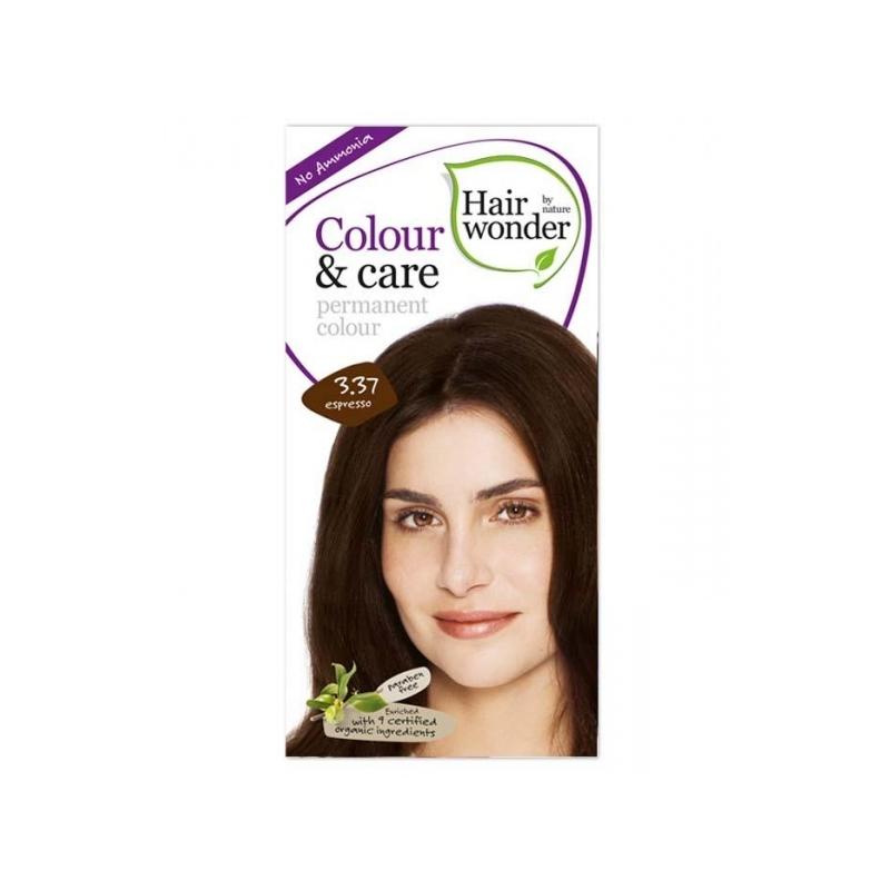 Hairwonder juuksevärv Colour and Care 3,37-espresso