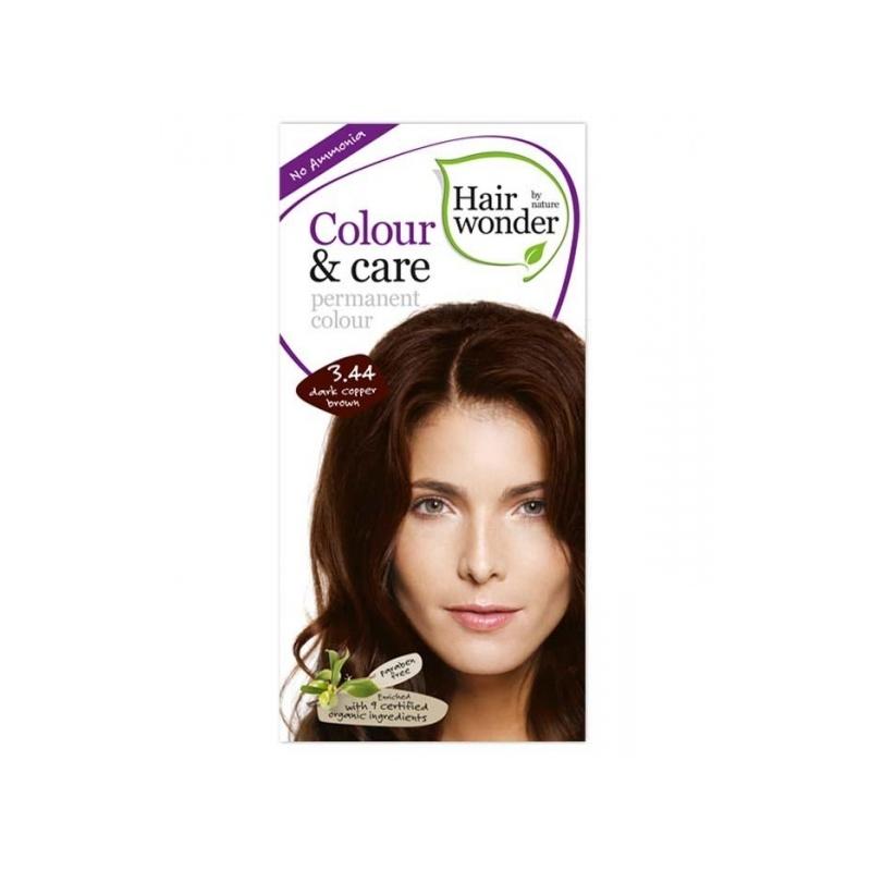 Hairwonder juuksevärv Colour and Care 3,44 tume vaskpruun