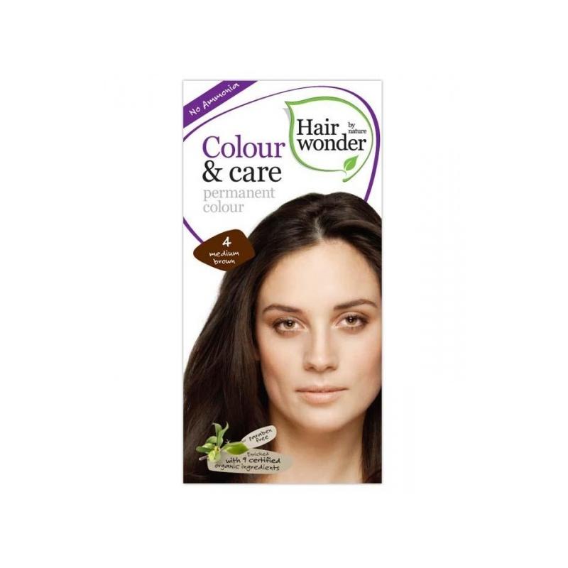 Hairwonder juuksevärv Colour & Care keskmine pruun 4
