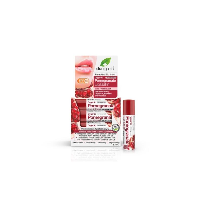 Dr.Organic Granaatõuna huulepalsam 5,7ml