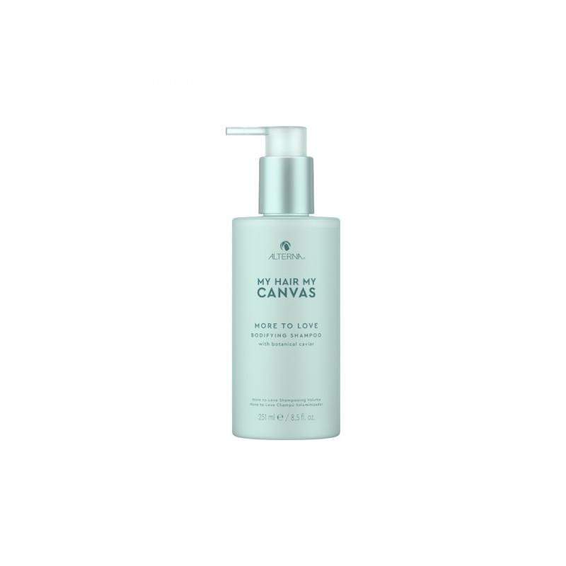 Alterna MHMC More To Love Bodifying Shampoo Volüümi ja tihedust lisav vegan šampoon