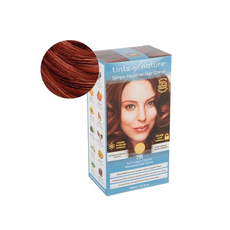 Tints Of Nature 7R Soft Copper Blonde Looduslik juuksevärv