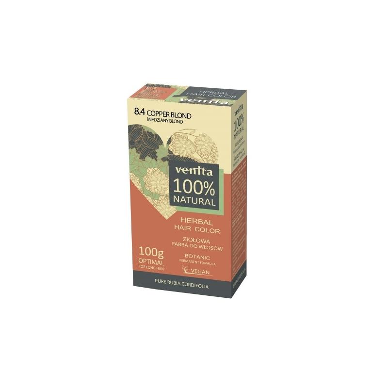 Venita 100% Natural Herbal henna pulber 8.4 copper blond
