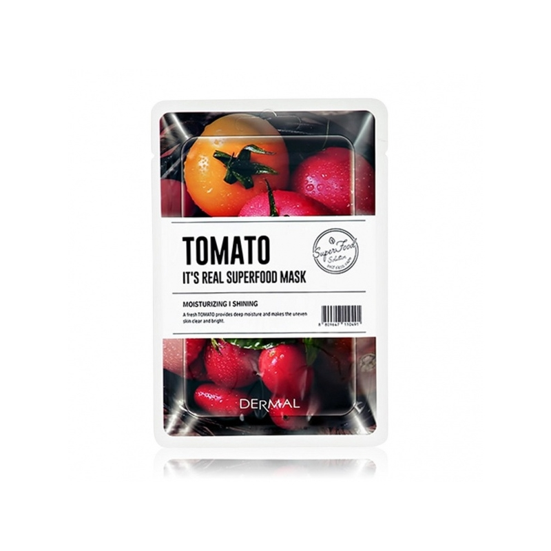 Dermal It's Real Superfood niisutav ja kirgastav tomatimask