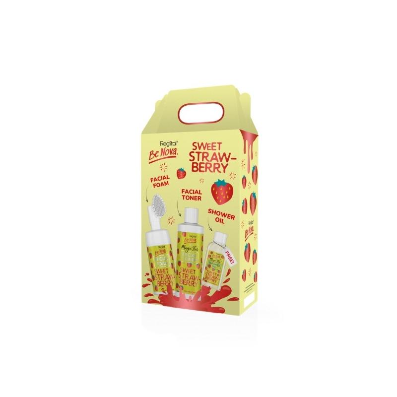 Regital Be Nova komplekt Sweet Strawberry näovaht 100ml + toonik 150ml + dušiõli 50ml