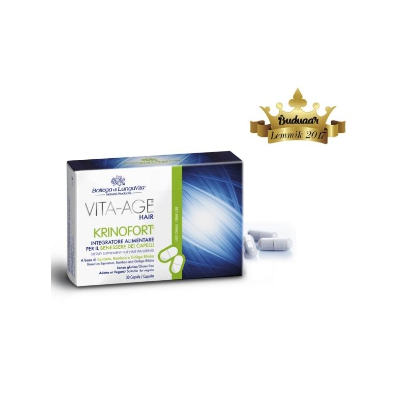 Vita-Age Krinofort juustevitamiinid väljalangemise ravi ja juustekasvu kiirendamiseks