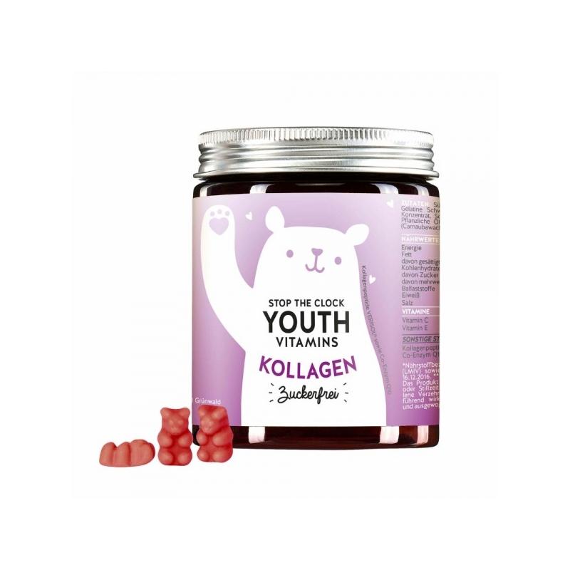 Bears With Benefits Stop the Clock Youth Vitamins kollageeniga, suhkruvaba 60tk
