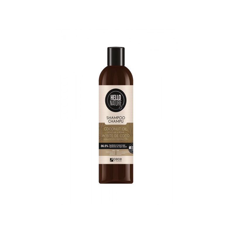 Hello Nature Niisutav ja taastav šampoon kookosõliga 300ml